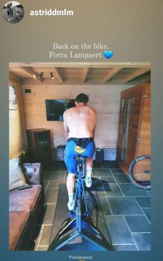 Drie dagen na zijn operatie traint Yves Lampaert al terug op de rollen