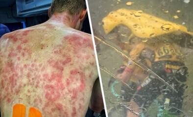 """Renners (waaronder Tim Declercq) moeten schuilen voor helse onweersbui in Dauphiné: """"Roepen van de pijn"""""""