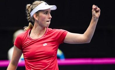Elise Mertens mag zich opmaken voor de halve finale in Praag na winst tegen Eugenie Bouchard