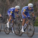 De jonge Jakobsen samen met Niki Terpstra aan de slag in de Ronde van Noorwegen in 2018.