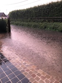 Zwalm ontsnapt niet aan wateroverlast na hevige regenval