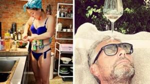 Gluren bij BV's: Evi Hanssen kookt in bikini, Leen Dendievel viert de liefde