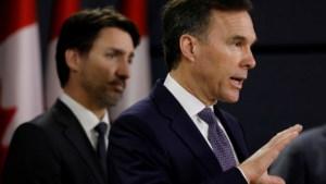 Canadese minister van Financiën stapt op na onenigheid met Trudeau over coronacrisis