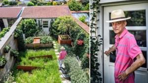 Een brand legde zijn huis in de as, waarna Serge van zijn tuin een groen instapschilderij maakte