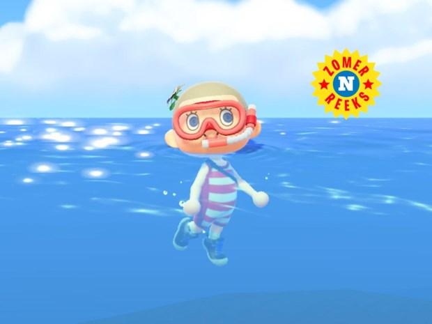 """""""Even voel ik die frisse duik op het scherm echt. De plonsgeluiden van mijn cartooneske avatar doen rillingen over mijn nek golven"""""""