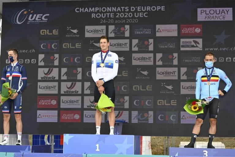 Victor Campenaerts snelt twee man voorbij maar moet tevreden zijn met brons, Stefan Küng wint EK tijdrijden