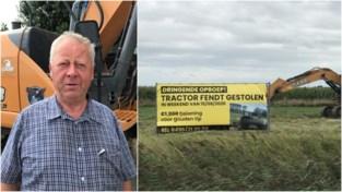 """Gestolen tractor dag na belofte van 1.000 euro voor gouden tip teruggevonden bij bekende van eigenaar: """"Wat een enorme ontgoocheling"""