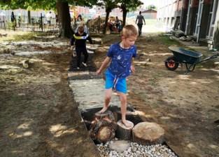 Eerste stappen in natuurspeeltuin