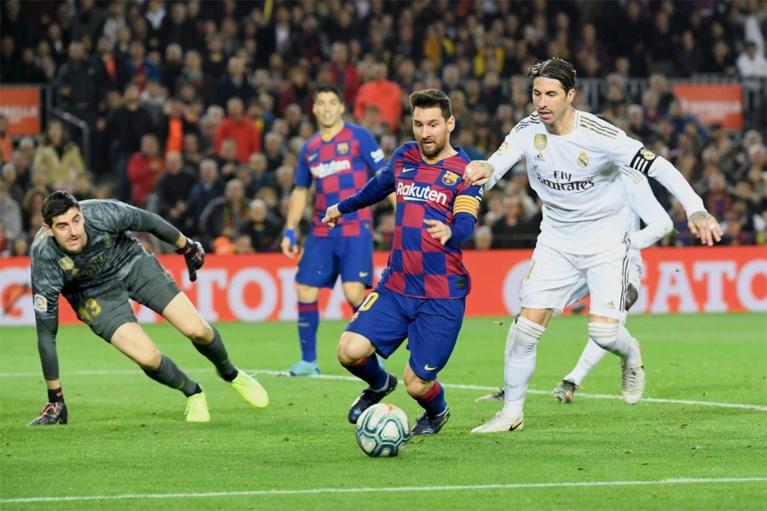 """Real-aanvoerder Sergio Ramos hoopt dat Lionel Messi nog even in Spanje blijft: """"Je wil altijd winnen van de beste spelers ter wereld"""""""