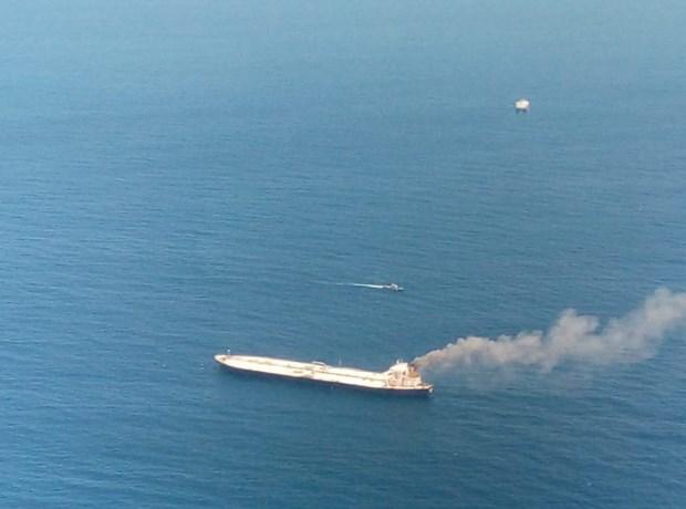 Explosie en brand op olietanker in buurt van Sri Lanka