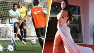 Terwijl Cristiano Ronaldo sukkelt met een blessure, schittert zijn Georgina op de rode loper in Italië