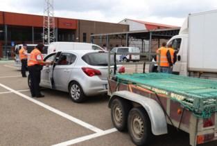 Politie houdt controle op aanhangwagens