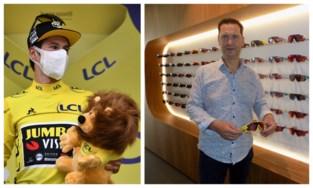 Roglic verovert geel in de Tour en dus laat zijn team zestig (!) fietsbrillen geel kleuren bij Kempense optieker