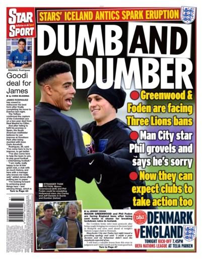 "Engelse tabloids hebben vette kluif aan internationals met IJslandse dames op hotelkamer: ""Dumb and Dumber"""