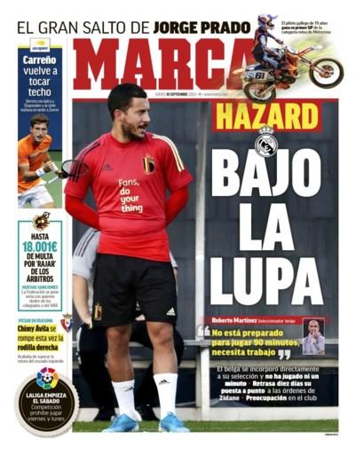 """Real-fans willen concurrent in de basis, Madrileense pers stort zich op Eden Hazard: """"Wat is er aan de hand?"""""""