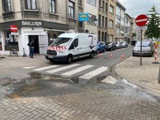 Lange Beeldekensstraat tijdengs afgesloten door waterleidingbreuk