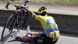 Colombiaans kampioen Sergio Higuita moet Tour verlaten na val door ongelukkig manoeuvre van Bob Jungels