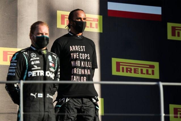 Hamilton krijgt geen sanctie voor dragen van t-shirt met opvallende boodschap