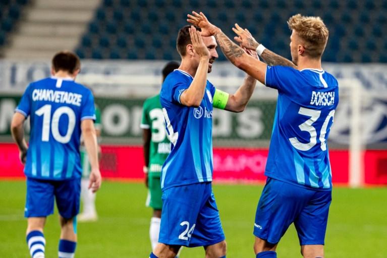 De Decker met beginnersgeluk: Dorsch en Yaremchuk zetten AA Gent op weg naar laatste voorronde Champions League