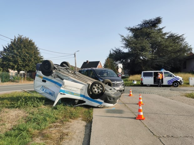 Lichtgewond na ongeval tijdens inhaalmanoeuvre