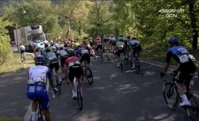 Opnieuw heibel in de Ronde van Luxemburg: vrachtwagen veroorzaakt valpartij in afdaling