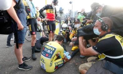 """Wout van Aert """"volledig verrast"""" dat kopman Roglic Tourzege verliest: """"De ellende begon toen ik in de <I>hot seat</I> ging zitten"""""""
