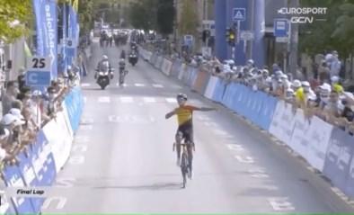 Ook dat nog: uitbundige renner denkt dat hij in Ronde van Luxemburg eerste profzege boekt, maar dan komt de aap uit de mouw