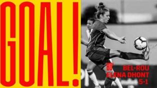 Elena Dhont maakt doelpuntenfeest Red Flames compleet