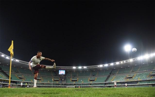 Zondag weer beperkt aantal toeschouwers in de Italiaanse voetbalstadions