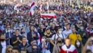Ondanks verbod weer tienduizenden betogers de straat op in Wit-Rusland
