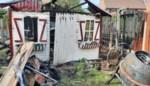 Bewoners zien tuinhuis in vlammen opgaan