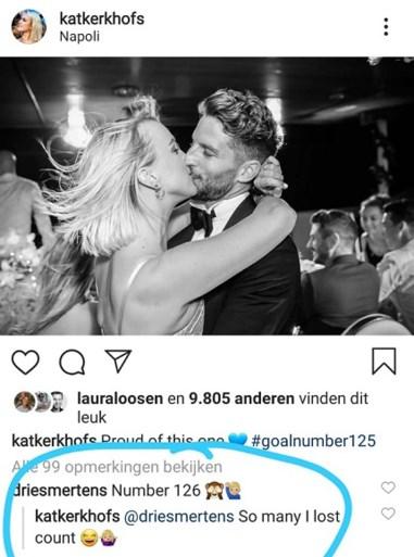 """Dries Mertens scoort (alweer) voor winnend Napoli, maar Kat Kerkhofs misrekent zich: """"Ik ben de tel kwijtgeraakt"""""""