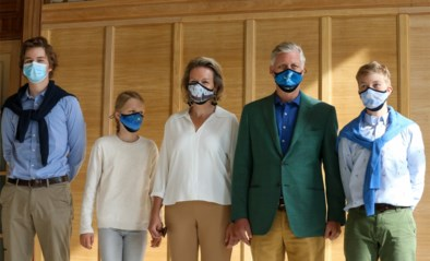 Ceci n'est pas een mondmasker: koninklijk gezin volgt coronamaatregel in stijl