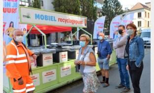 Recycleren iets makkelijker met mobiel containerpark