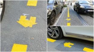 Opgelet! Gele lijn = 80 euro boete als je geen vergunning hebt