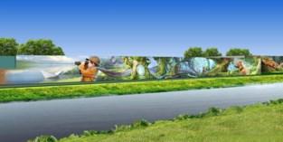 Hier komt een van de grootste muurschilderingen van Europa en... u kan er uw kind op bewonderen