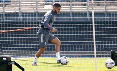 Eden Hazard traint weer met de groep