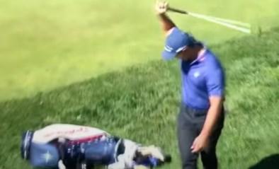 Golfer op US Open mist vijf makkelijke putts op rij, koelt zijn woede op zijn golftas en geeft op met polsblessure