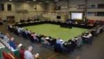Zo ziet gemeenteraad in basketbalzaal eruit