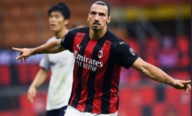 Invaller Alexis Saelemaekers mag vieren met AC Milan dankzij twee goals van Zlatan Ibrahimovic