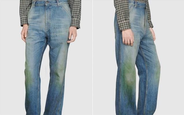 Gucci verkoopt jeans met grasvlekken en die kost stevige duit