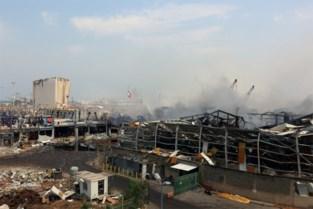 Noodhulp aan slachtoffers explosie Beiroet