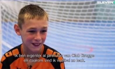 """Voetballertje met fysieke beperking steelt alle harten: """"Als ik hier speel dan beeld ik me in dat ik in het Jan Breydelstadion sta"""""""
