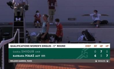 """Nobele onbekenden zorgen voor match voor de eeuwigheid in kwalificaties voor Roland Garros: """"Ze kan slapen vannacht"""""""