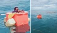 Vermiste visser gered nadat hij drie dagen in koelbox overleefde op volle zee