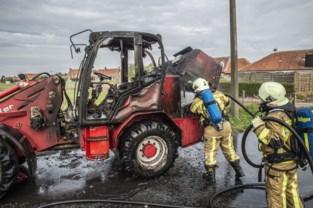 Boerin kan brandend voertuig tijdig verlaten