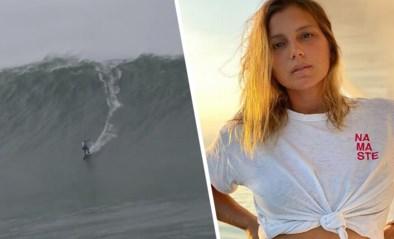 """Ooit verdronk ze bijna, nu maakt Maya alle surfmannen jaloers door monstergolf te bedwingen: """"Ik had de dood aanvaard"""""""