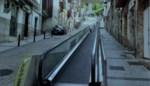 Weg plannen voor trambus, daar is het idee van een bewegend voetpad