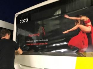 Dansschool maakt nu ook reclame op bussen van De Lijn