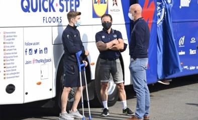 Remco Evenepoel zit terug op de fiets na zware val in Lombardije